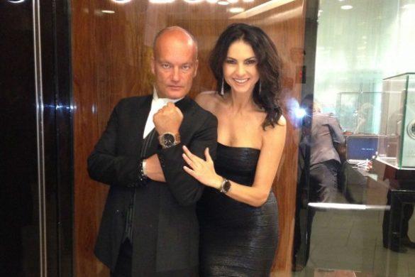 Ramona Badescu si Italo Fontana-fondatorul ceasurilor U-BOAT 2