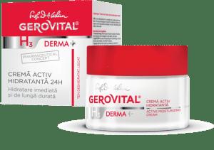 Gerovital H3 Derma+ Crema activ hidratanta 24h cutie